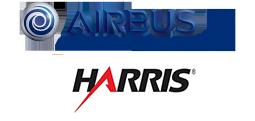 AirbusDS & Harris logos