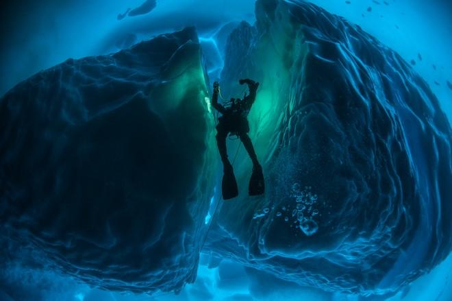 Under the pole - diver