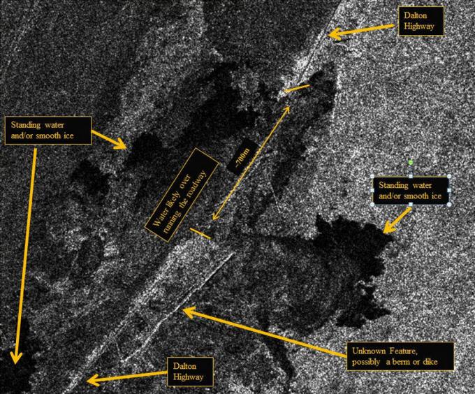Dalton highway - satellite view