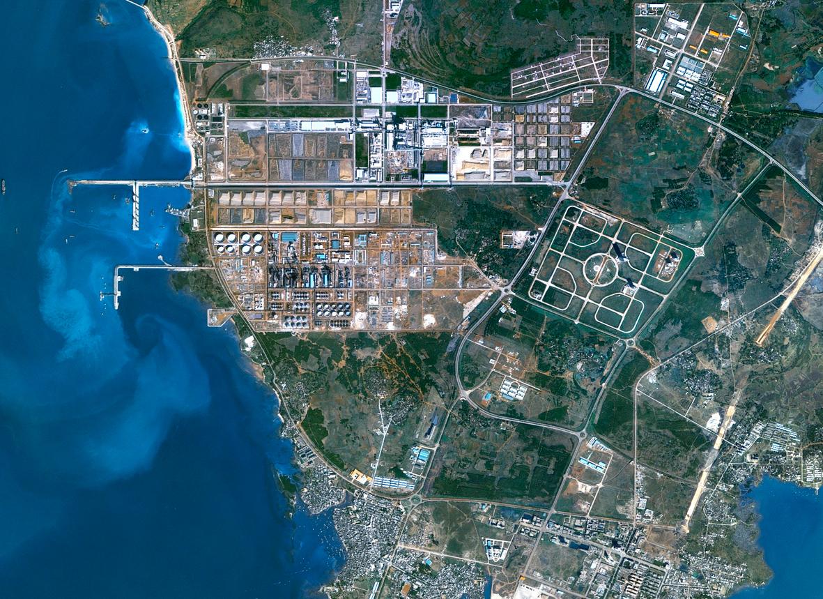 中国海南岛北部spotmaps  cnes 2004-2001