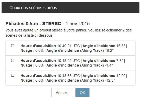 Geostore - Choose stereo scenes