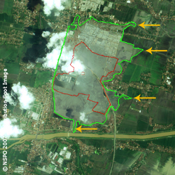 Lusi Mud Volcano - FORMOSAT-2 Satellite Image of 11/02/2007 (map)