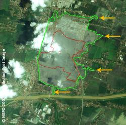 Lusi Mud Volcano - FORMOSAT-2 Satellite Image of 11/02/2007 (map)