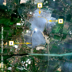 Lusi Mud Volcano - FORMOSAT-2 Satellite image on 20/06/2007 (map)