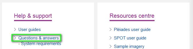 Screenshot - How to access the FAQ - EN