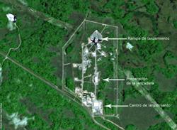 El conjunto de lanzamiento Soyuz - Imagen satélite SPOT 5
