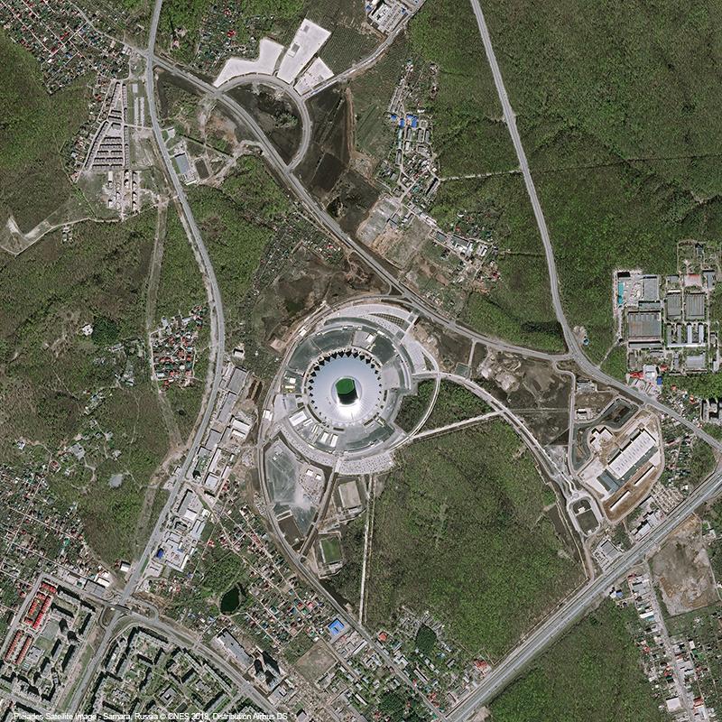Pléiades Satellite Image - Cosmos Arena