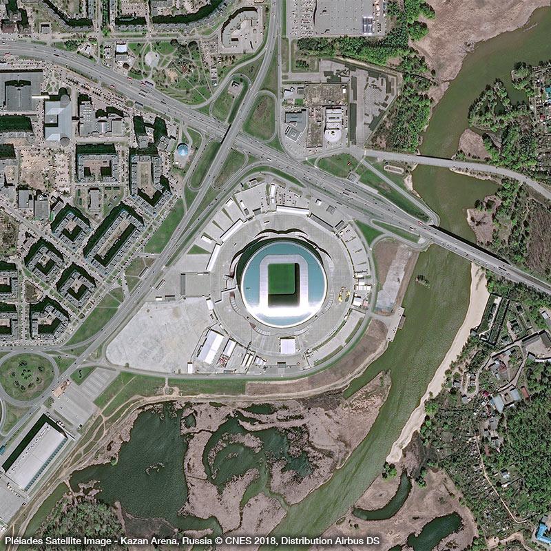 Pléiades Satellite Image - Kazan Arena