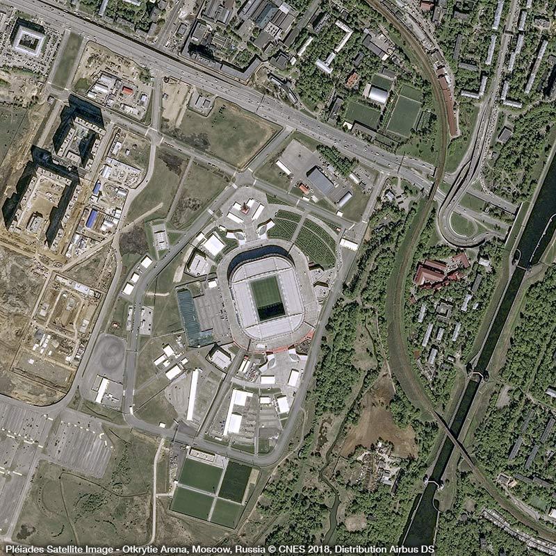 Pléiades Satellite Image - Otkritie Arena