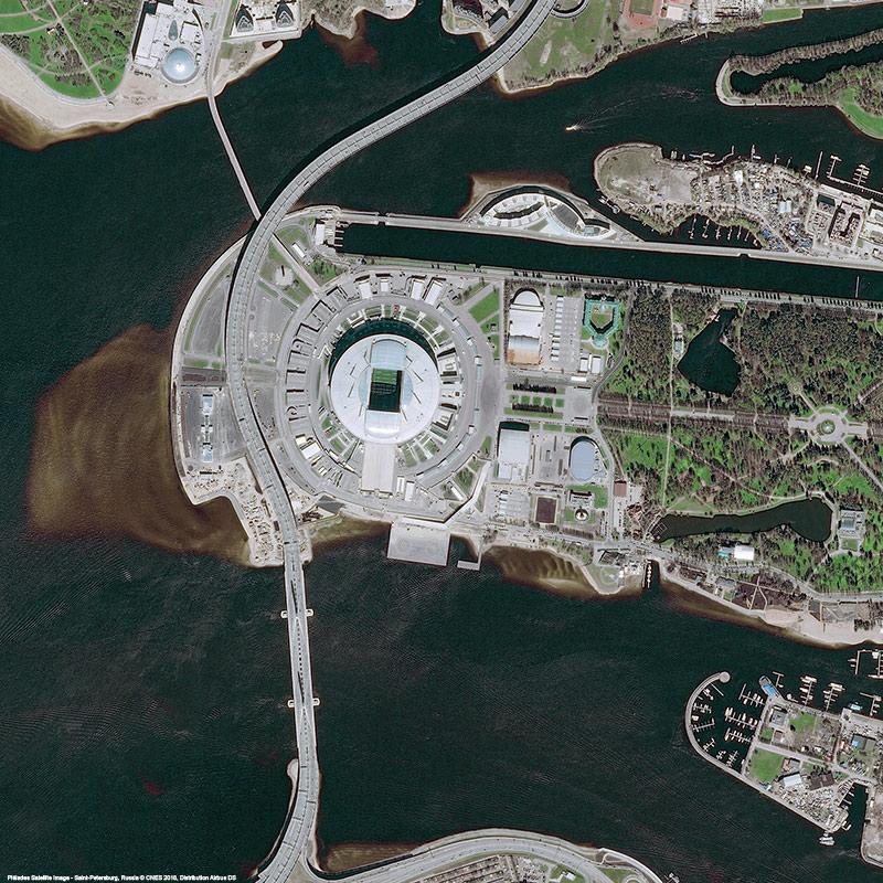 Pléiades Satellite Image - Krestovsky Stadium