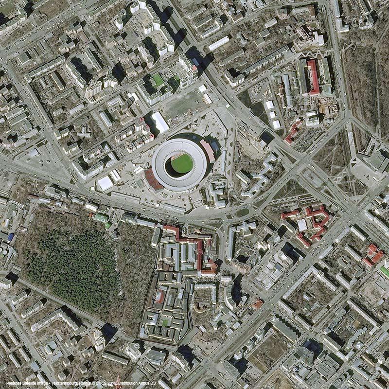 Pléiades Satellite Image - Central Stadium