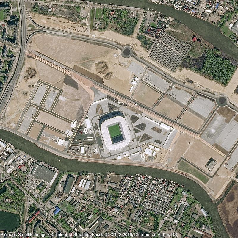 Pléiades Satellite Image - Kaliningrad Stadium
