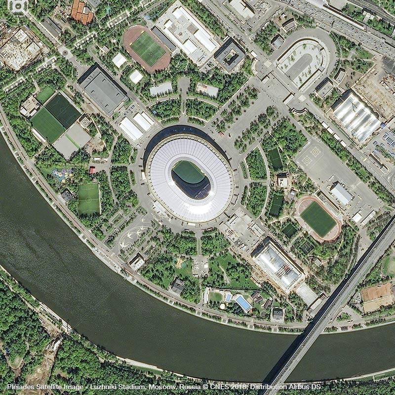 Pléiades Satellite Image - Luzhniki Stadium