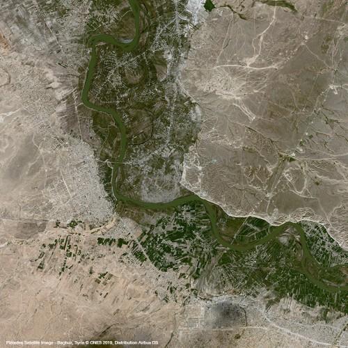 Baghuz, Syria - Pléiades Satellite Image