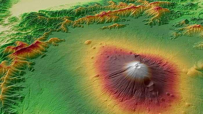 WorldDEM Elevation Mont Fuji Japan