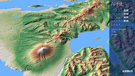 Calendar 2020 - April - Osorno Volcano, Chile - WorldDEM - Display Website