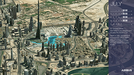 Calendar 2020 - July - 3D Textured Model - Add Relief to Your Imagery, Dubai - Display Website