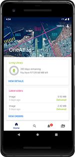OneAtlas Access through mobile phone