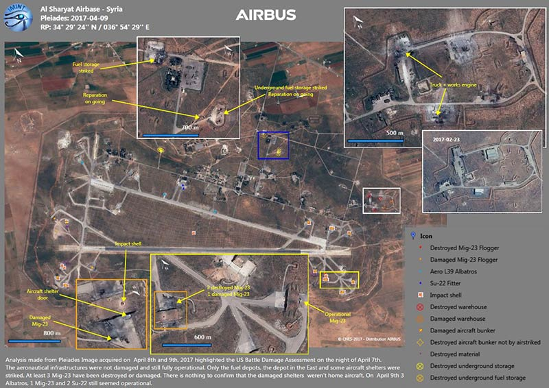 Airbus' Imagery intelligence report reveals precisely the strike damages