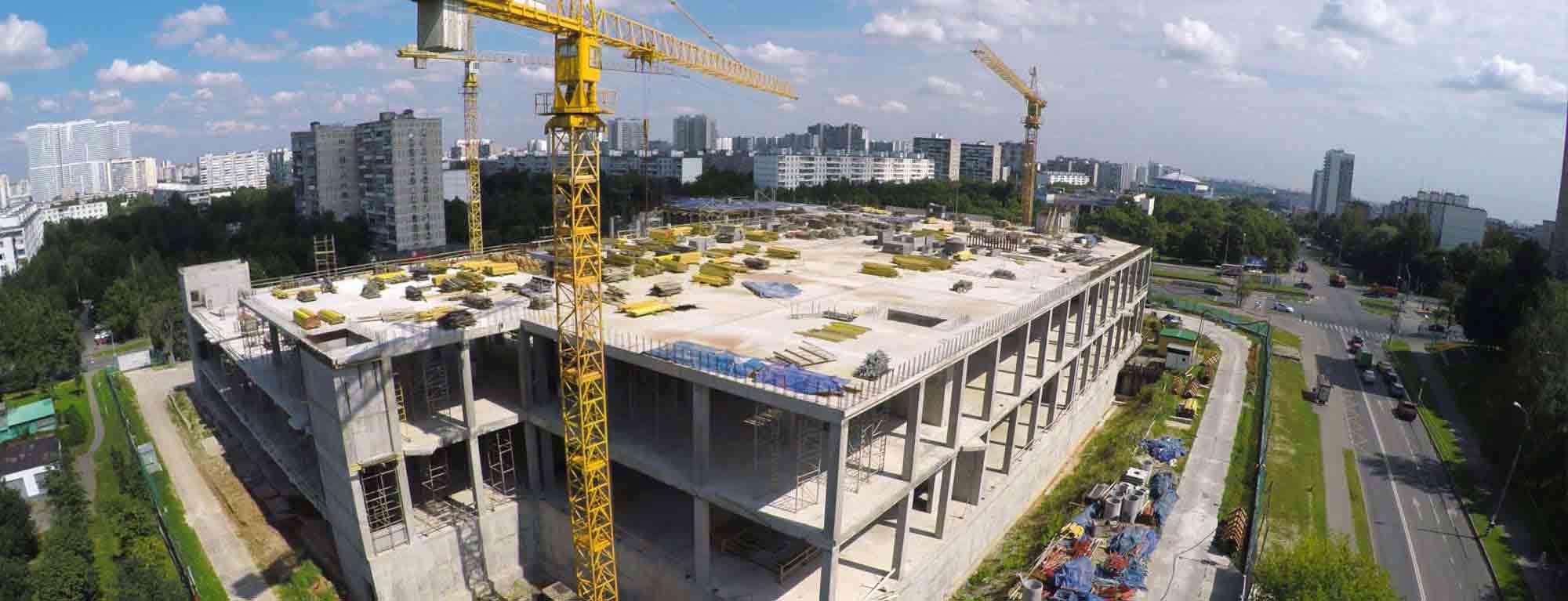 Urban infrastructure building site