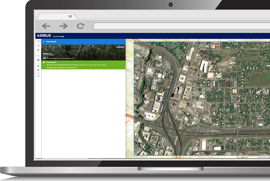 Confirmation of an imagery acquisition in OneAtlas - Living Library case study