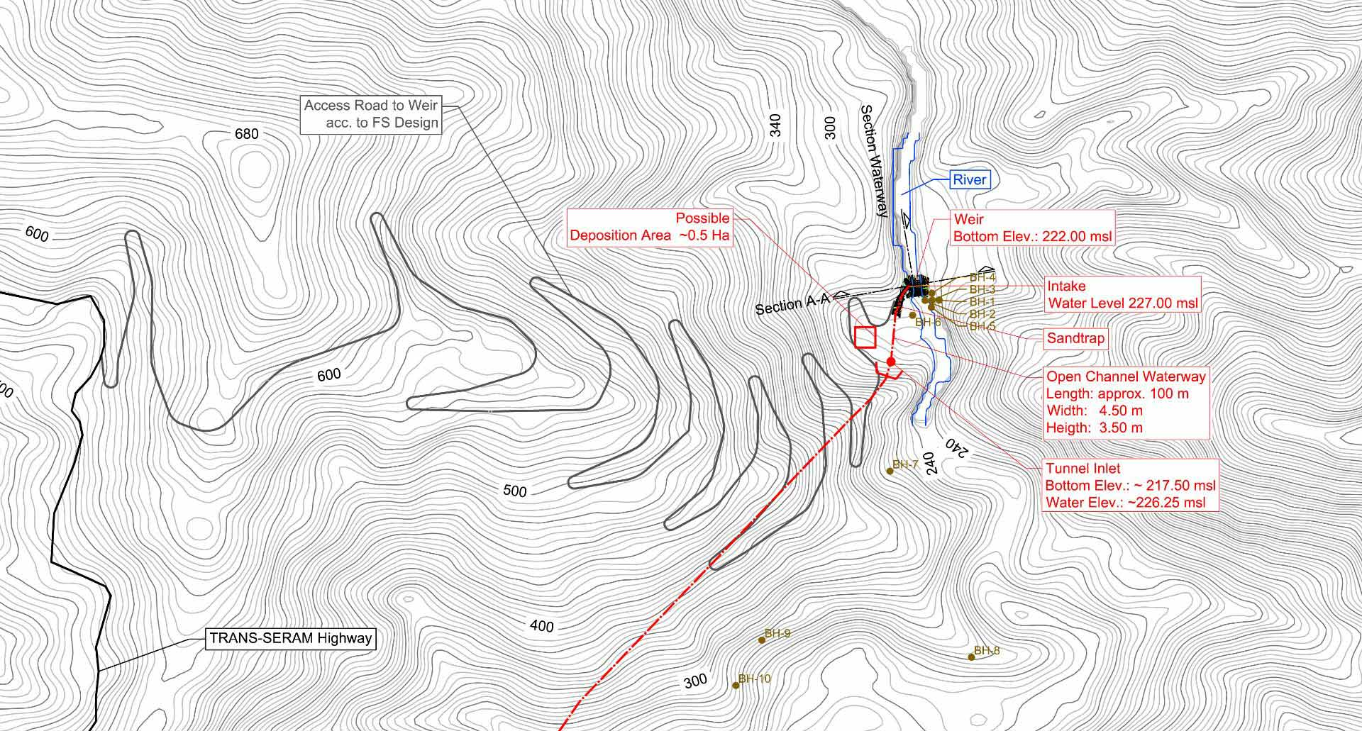 Ground survey topographical map - Indonesia Worldem case study
