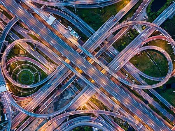 Highway interchange point
