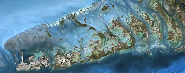 SPOT 6 satellite image of Key West, USA