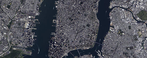 Vision-1 satellite image of New York, USA