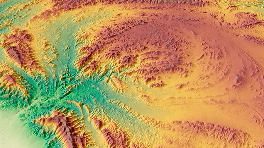 WorldDEM™  Satellite Image - Parachilna Gorge, Australia