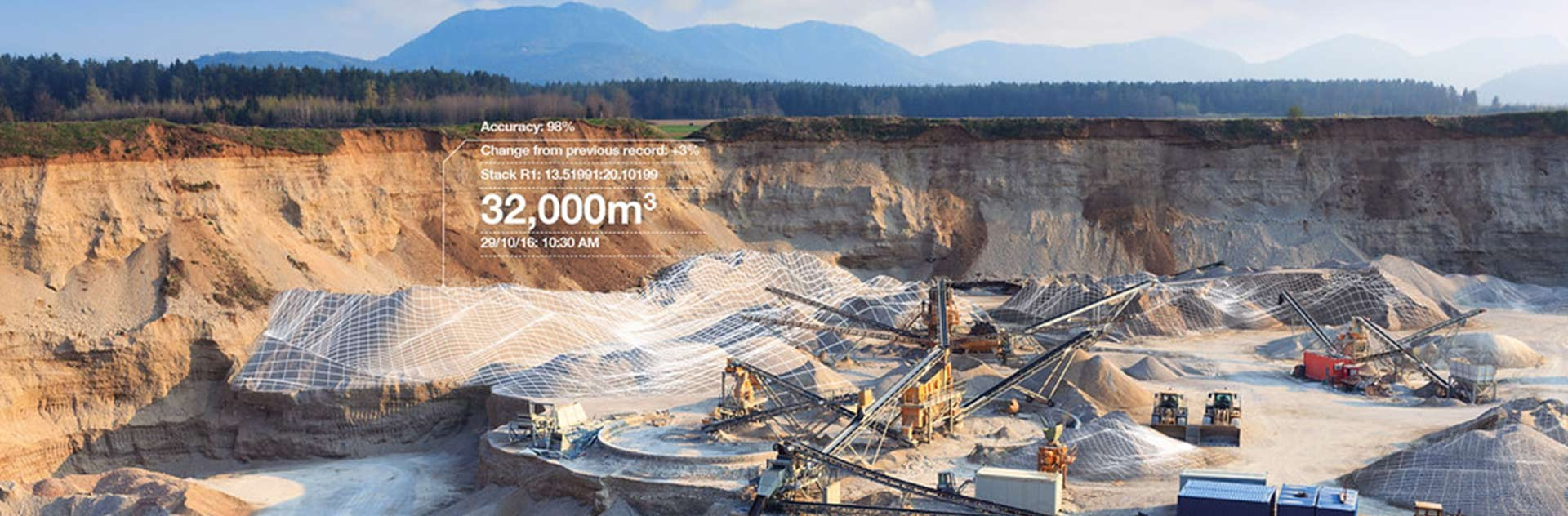 Remote monitoring of mines and stack calculations