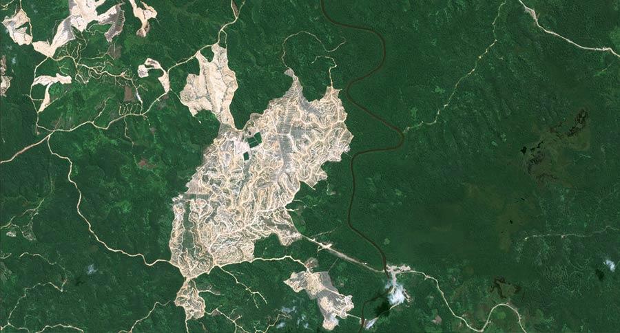 Pléiades image Borneo forest