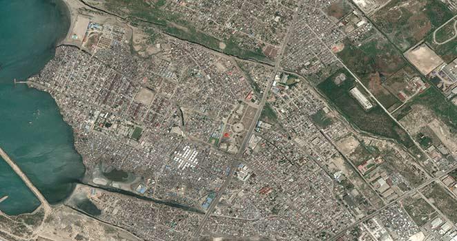 Satellite Image -Cité Soleil - Haiti