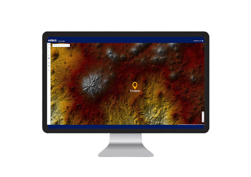 WorldDEM digitcal elevation model of the Uruapan area in Mexico