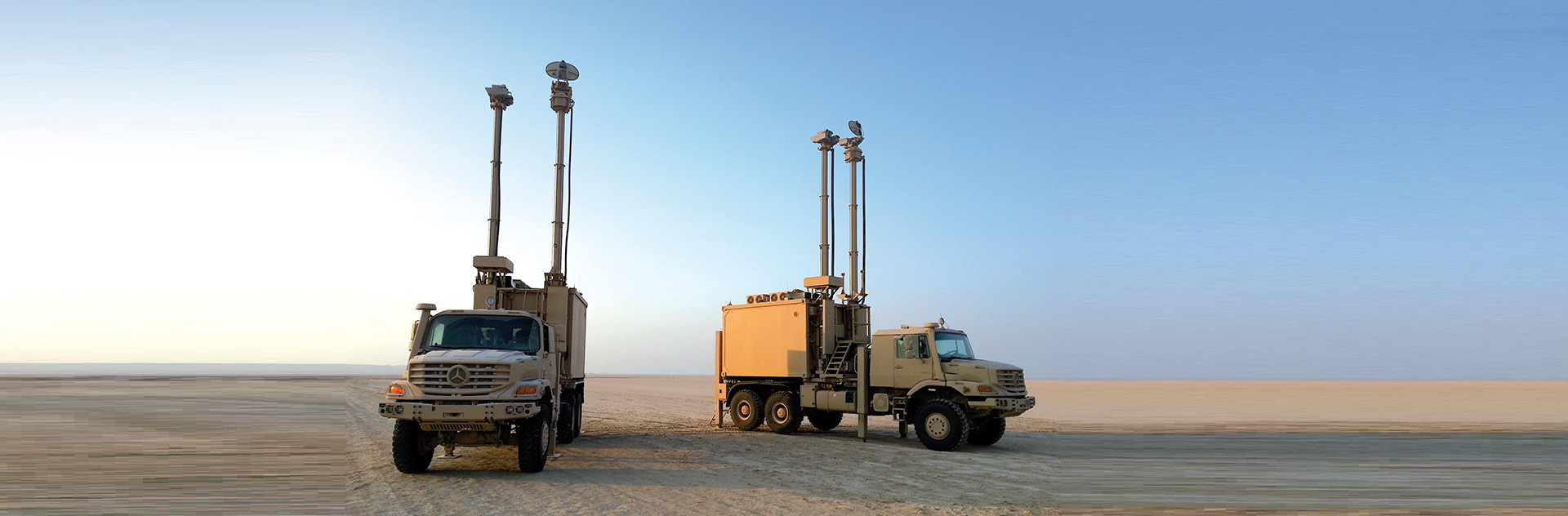 Multi-Sensors Surveillance Vehicles, easy to deploy and equipped with sensors to rapidly detect threats and secure specific fields of operation