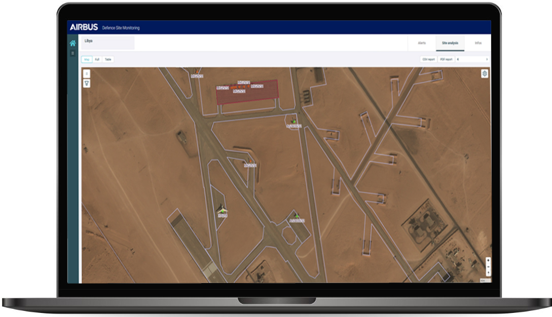 Aircraft identification on satellite imagery - Defence Monitoring