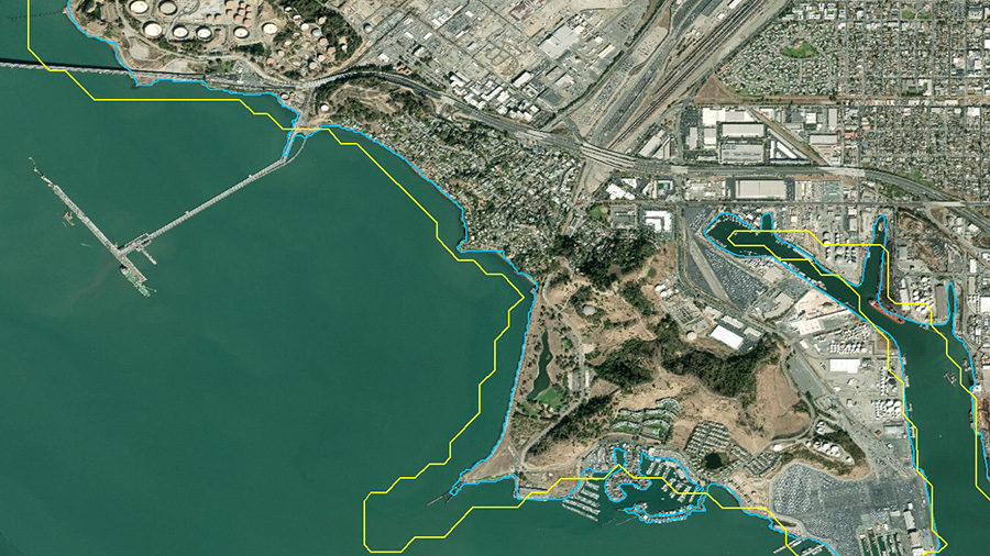 WorldDEM Ocean Shoreline Image