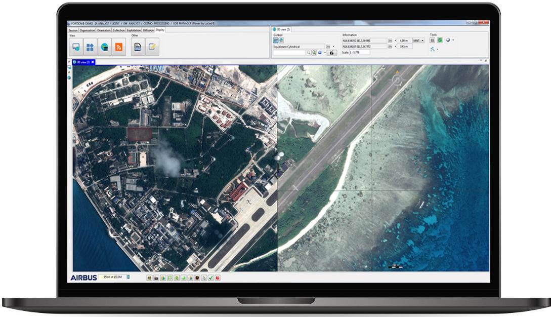 Fortion Image Analyst IMINT change detection split