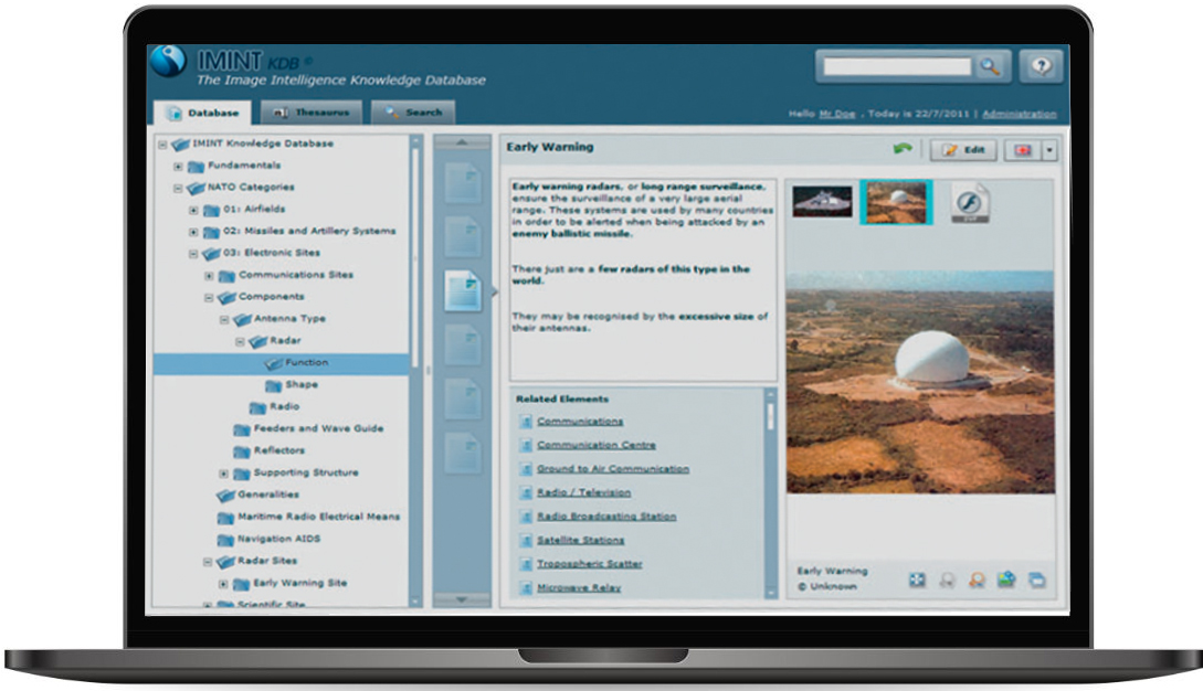 Fortion IMINT KDB user friendly interface