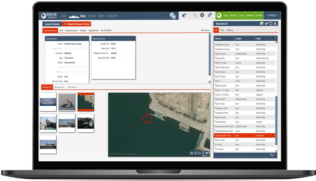 Fortion RECCE Engine sea equipment recognition tool