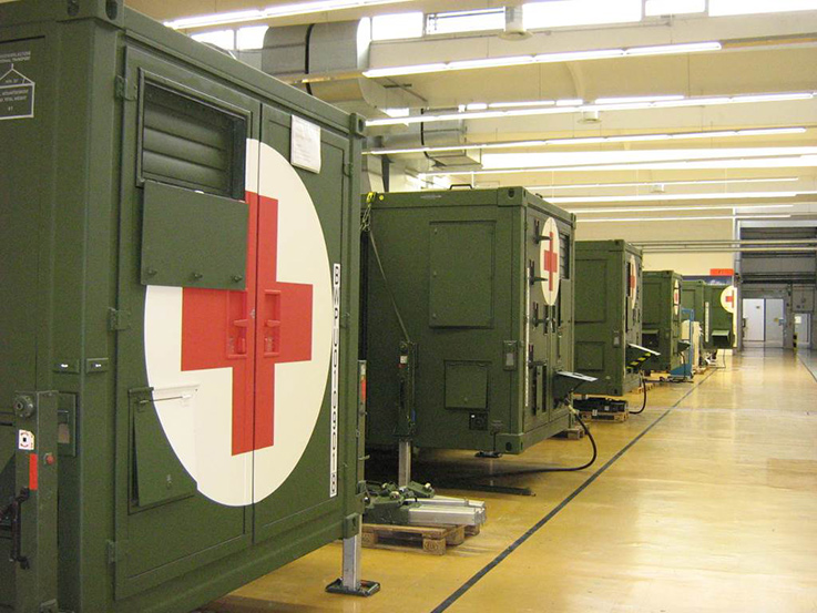 Airbus In-Service Support field hospital