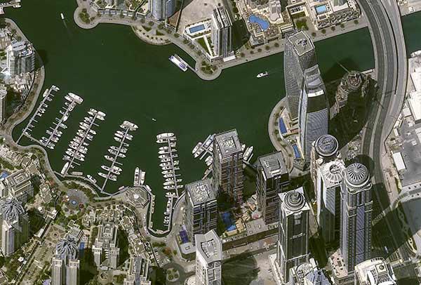 Image satellite Pléiades NeoSimulation- 30cm resolution - Dubaï, UAE