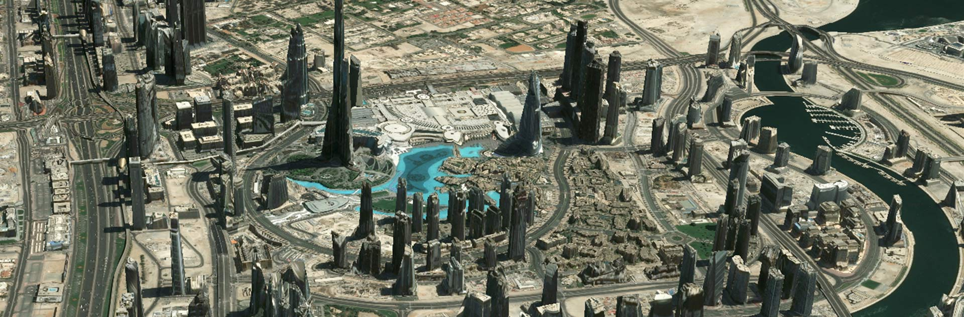 Dubai, one of the most populous cities in the United Arab Emirates, visualised with the help of 3D Textured Model.
