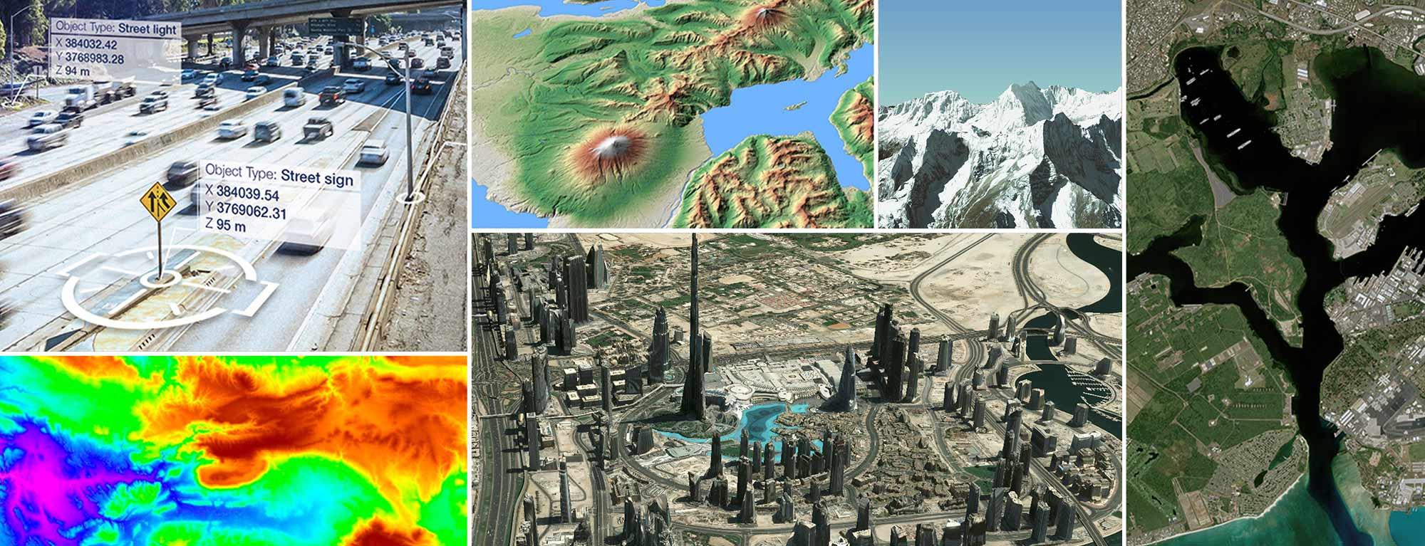 Mosaic images satellite