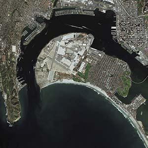Pléiades Satellite Image San Diego, US