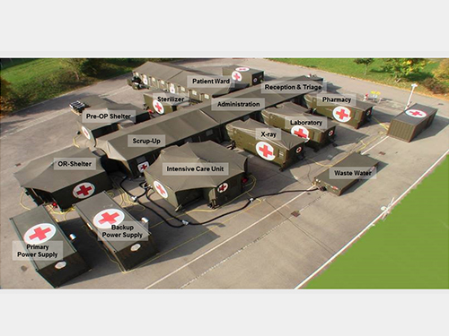 Fortion® TransHospital® mobile rescue centre role 2 configuration deployed in Slovenia