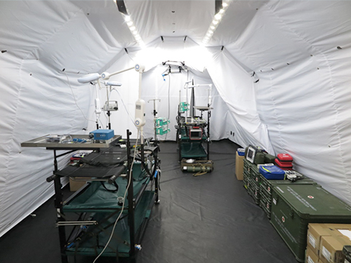 Air Deployable Rescue Centre (LLRZ), role 2, tent-based, view of the interior