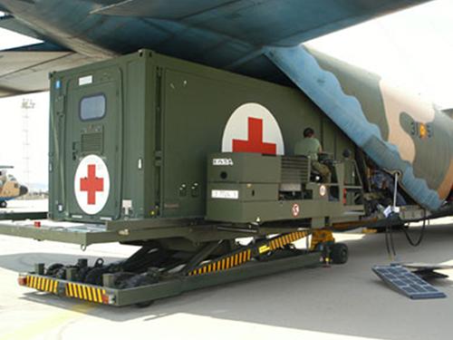 Fortion® TransHospital® medical evacuation solutions for transportation by plane