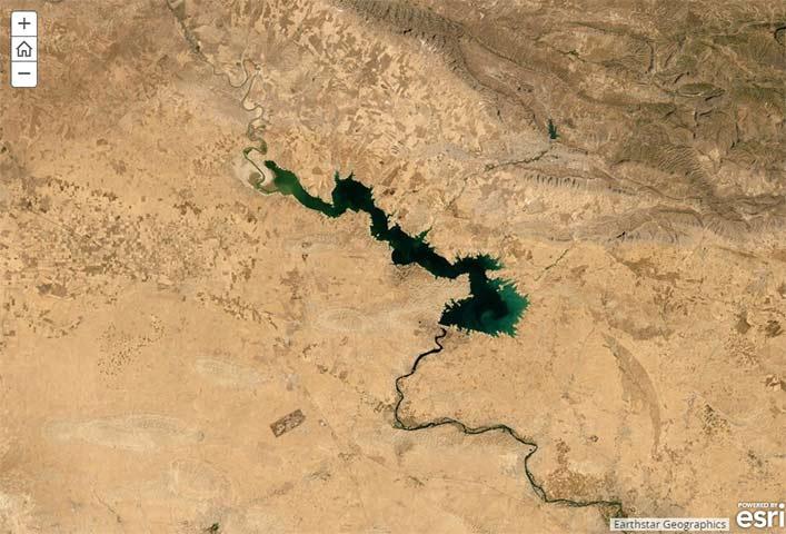 Satellite Image of the Mosul Dam