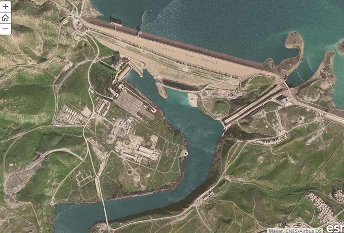 Mosul Dam in Iraq